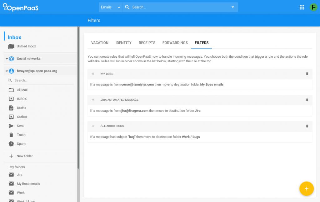 Inbox-filters